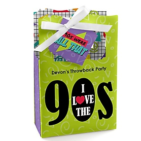 90's Throwback - Personalized 1990s Party Favor Boxes - Set of 12