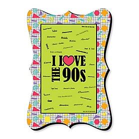90's Throwback - Unique Alternative Guest Book - 1990s Party Signature Mat