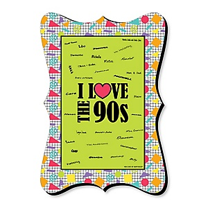 90's Throwback - Unique Alternative Guest Book - 1990s Party Signature Mat