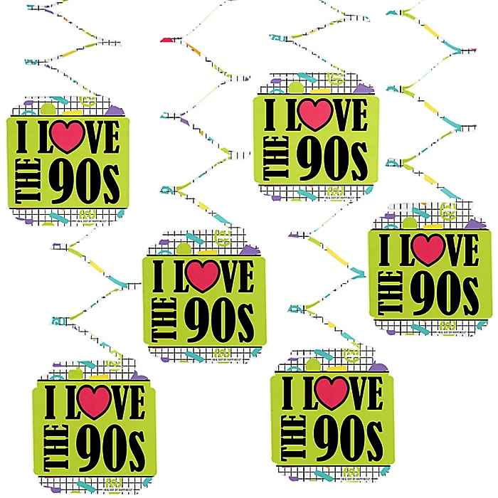 90's Throwback - 1990s Party Hanging Decorations - 6 Count