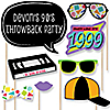 90's Throwback - 20 Piece 90's Party Photo Booth Props Kit