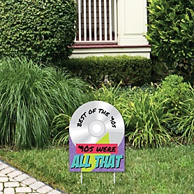 90's Throwback - Outdoor Lawn Sign - 1990s Party Yard Sign - 1 Piece