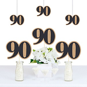 90th Milestone Birthday - Dashingly Aged to Perfection - Decorations DIY Party Essentials - Set of 20