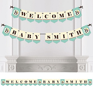 A is for Alphabet - Personalized Baby Shower Bunting Banner