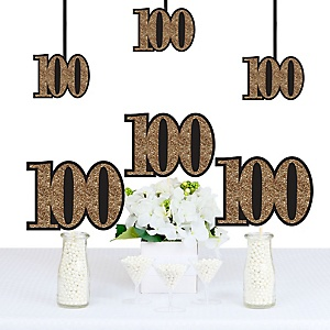 Adult 100th Birthday - Gold - Decorations DIY Party Essentials - Set of 20