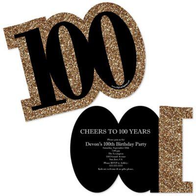 Adult 100th Birthday Gold Birthday Party Theme
