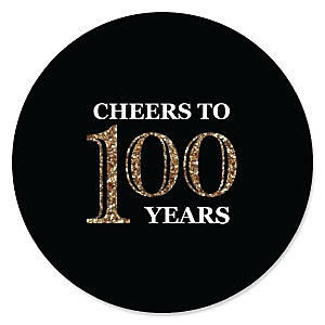 Adult 100th Birthday - Gold - Birthday Party Theme