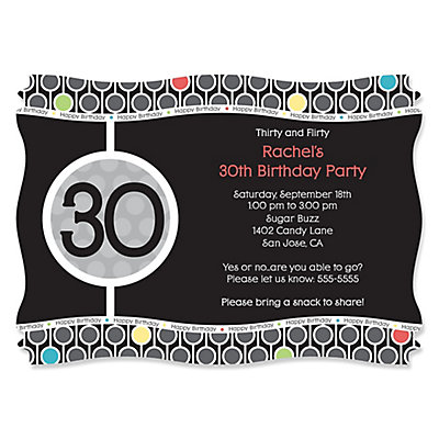 Adult 30th Birthday Personalized Birthday Party Invitations – 30th Party Invitations