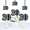 Adult 30th Birthday - Silver - Decorations DIY Party Essentials - Set of 20