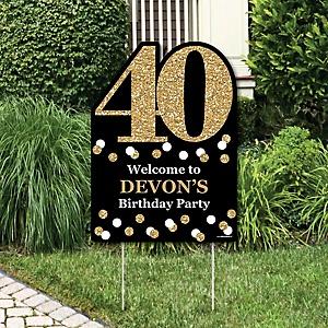 Adult 40th Birthday Gold Birthday Party Theme