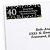 Adult 40th Birthday - Gold - Personalized Birthday Party Return Address Labels - 30 ct