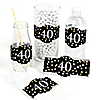 Adult 40th Birthday - Gold - DIY Party Wrappers - 15 ct
