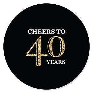 Adult 40th Birthday - Gold - Birthday Party Theme