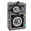 Adult 40th Birthday - Personalized Birthday Party Favor Boxes