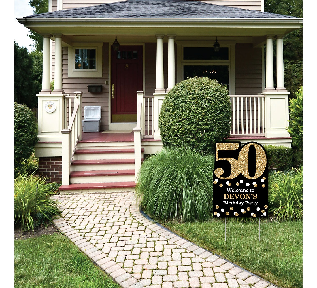 94 Yard Decorations For 50th Birthday