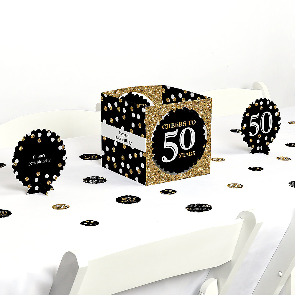 Excellent Adult 50Th Birthday Gold Birthday Party Centerpiece And Table Decoration Kit Interior Design Ideas Truasarkarijobsexamcom