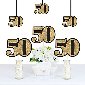 Adult 50th Birthday - Gold - Decorations DIY Party Essentials - Set of 20