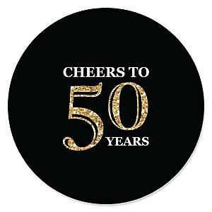 Adult 50th Birthday - Gold - Birthday Party Theme