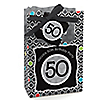 Adult 50th Birthday - Personalized Birthday Party Favor Boxes
