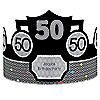 Adult 50th Birthday - Personalized Birthday Party Hats - 8 ct