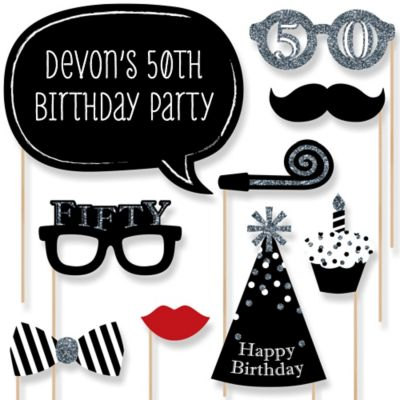 Adult 50th Birthday Party Theme BigDotOfHappinesscom