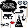 Adult 50th Birthday - Silver - 20 Piece Photo Booth Props Kit