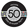 Adult 50th Birthday - Personalized Birthday Party Sticker Labels - 24 ct
