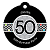 Adult 50th Birthday - Round Personalized Birthday Party Tags - 20 ct