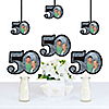 Adult 50th Birthday - Silver - Photo Decorations DIY Party Essentials - Set of 20