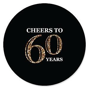 Adult 60th Birthday - Gold - Birthday Party Theme