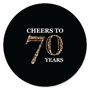 Adult 70th Birthday - Gold - Birthday Party Theme