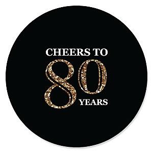 Adult 80th Birthday - Gold - Birthday Party Theme