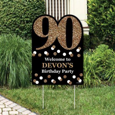 Adult 90th Birthday Gold Birthday Party Theme