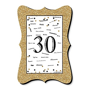 Adult 30th Birthday - Gold - Unique Alternative Guest Book - 30th Birthday Party Signature Mat