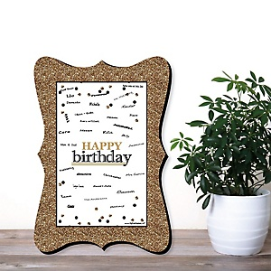 Birthday Party Personalized Signature Mats