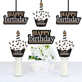 Adult Happy Birthday - Gold - Decorations DIY Birthday Party Essentials - Set of 20