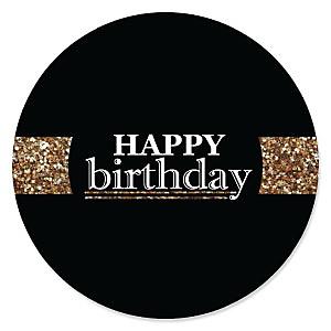 Adult Happy Birthday - Gold - Birthday Party Theme