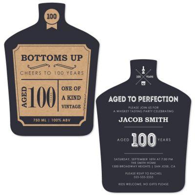 Dashingly Aged to Perfection 100th Milestone Birthday Birthday