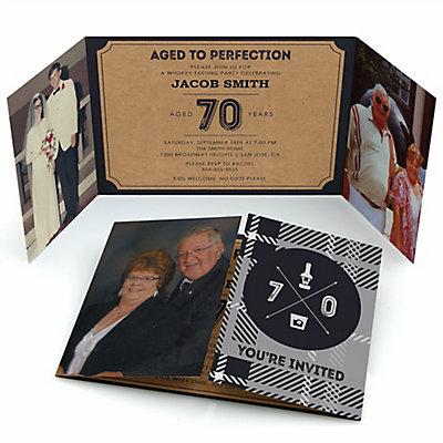 70th milestone birthday dashingly aged to perfection