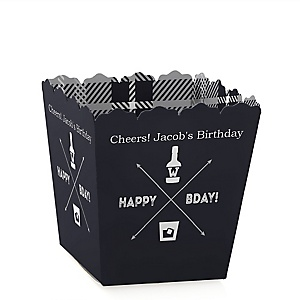 Milestone Happy Birthday - Dashingly Aged to Perfection - Party Mini Favor Boxes - Personalized Birthday Party Treat Candy Boxes - Set of 12