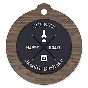 Milestone Happy Birthday - Dashingly Aged to Perfection - Personalized Birthday Party Tags - 20 ct