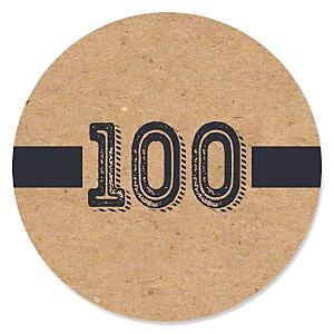 100th Milestone Birthday - Dashingly Aged to Perfection - Birthday Party Theme
