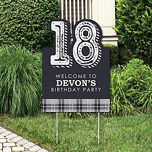 18th Milestone Birthday - Time To Adult - Party Decorations - Birthday Party Personalized Welcome Yard Sign
