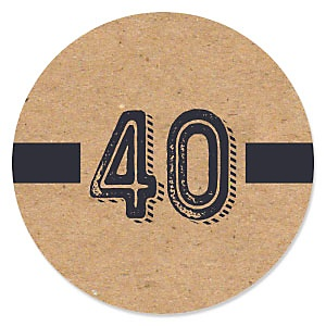 40th Milestone Birthday - Dashingly Aged to Perfection - Birthday Party Theme