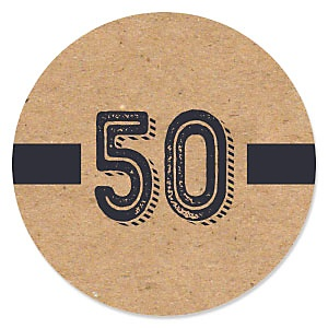 50th Milestone Birthday - Dashingly Aged to Perfection - Birthday Party Theme