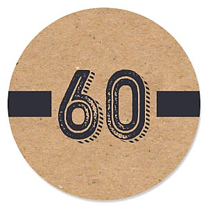 60th Milestone Birthday - Dashingly Aged to Perfection - Birthday Party Theme