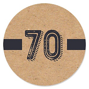 70th Milestone Birthday - Dashingly Aged to Perfection - Birthday Party Theme
