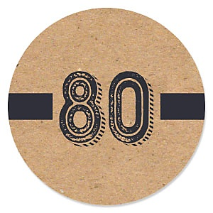 80th Milestone Birthday - Dashingly Aged to Perfection - Birthday Party Theme