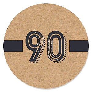 90th Milestone Birthday - Dashingly Aged to Perfection - Birthday Party Theme
