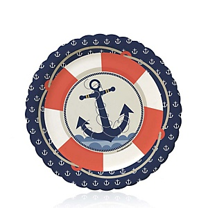 Ahoy - Nautical - Baby Shower Dessert Plates - 8 ct